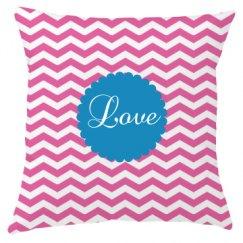 Chevron Love Throw Pillowcase