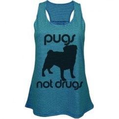 Pugs Not Drugs Flowy Tank