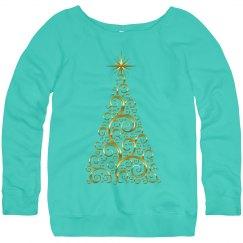 Fancy Golden Christmas Tree