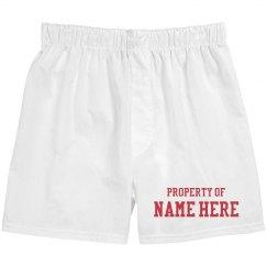 Property Of Custom Couple Boxers