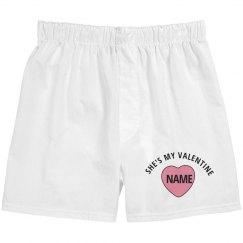 She's My Valentine Matching Boxers