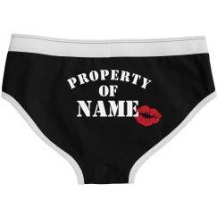 Custom Couple Property Of Panties