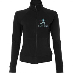 Glitter I Love Yoga Jacket