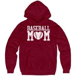 Cozy Baseball Mom