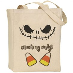 Where's My Candy Halloween Tote
