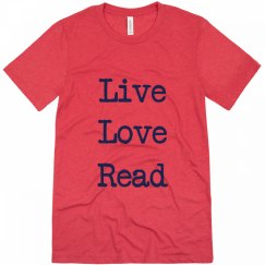 Live Love Read T-Shirt