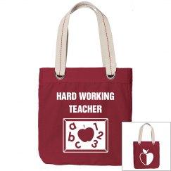 Hard working teacher