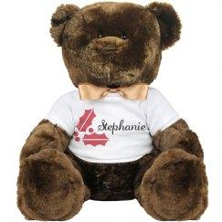 Christmas Holly Teddy Bear