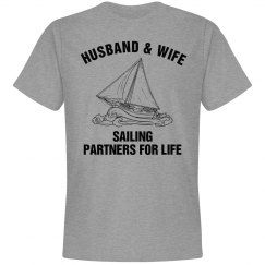 t-shirt Sailing Partners for LIFE Husband & Wife