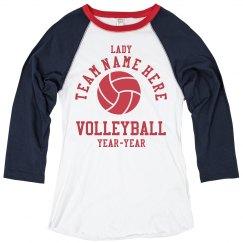 Custom Lady Volleyball Shirts