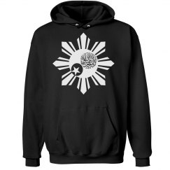 Hoodie with Digital Martyrs White Logo (All sizes)