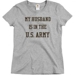 My husband is in the U.S. army