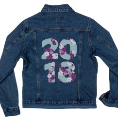 Floral Seniors '17 Denim Jacket