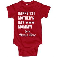 First Mother's Day Custom Onesie