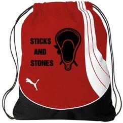 Sticks and Stones Drawstring Bag