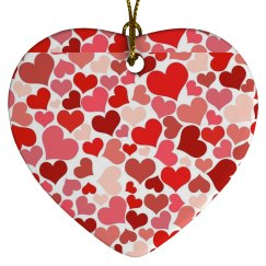 Floating Hearts Ornament