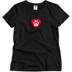 Dalmatian Paw & Red Heart