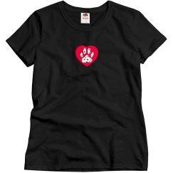 Dalmatian Paw & Red Heart