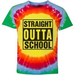 Straight Outta School Tie Dyed Kids Shirt