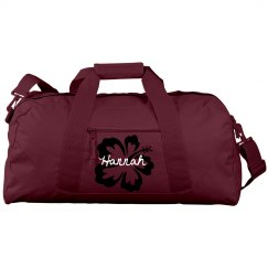 name and flower duffle bag