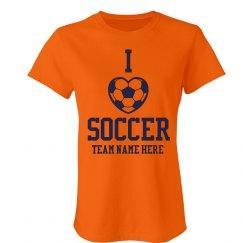 I Love Soccer Team Colors