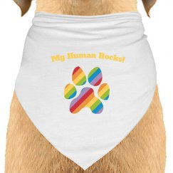 Dog Bandana rainbow black