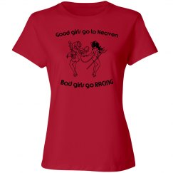 Good/Bad Girl Racing - Red Women's fitted T-shirt