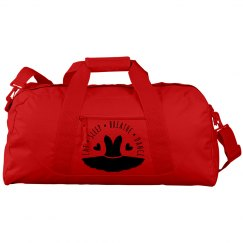 Eat Sleep Breathe and Dance Orange Duffle Bag