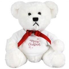 Red Ribbon Christmas Bear