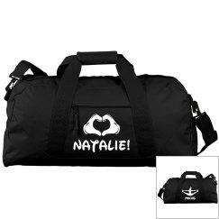 High School Cheerleader Custom Bag With Name and School