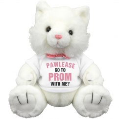 Funny Promposals Cat Pun Plush