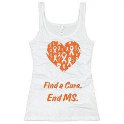 MS heart Ribbon women's Tank