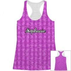 Gingham All Over Print Tank Top