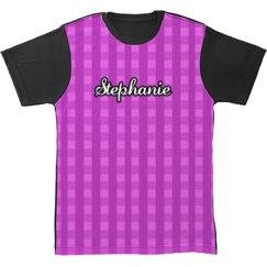 Gingham All Over Print Tshirt