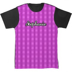 Gingham All Over Print Tshirt