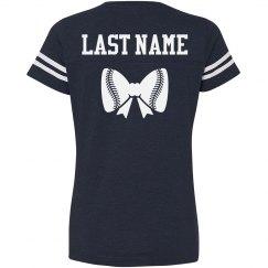 Baseball Sister Bow Custom Name