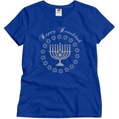 Happy Hanukkah Menorah