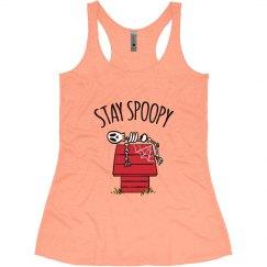 Stay Spoopy Halloween Tank Women