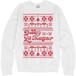 Daddy's Lil Monster Ugly Sweater