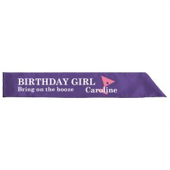 Birthday Girl Sash