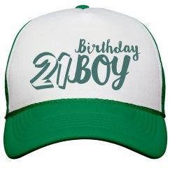 21 Peak Cap Birthday Boy