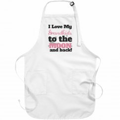 Grandkids to the moon and back apron