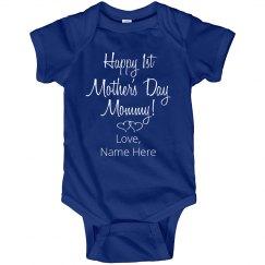 Custom Name Mothers Day Onesie