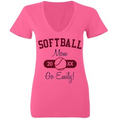 Neon Softball Mom Ball