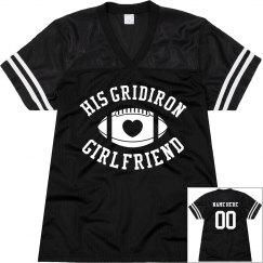 His Gridiron Football Girlfriend Custom Mesh Jersey