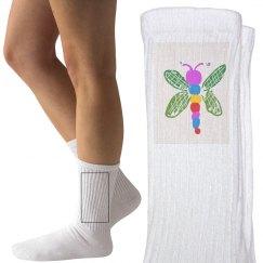 Dragonfly Ladies Socks