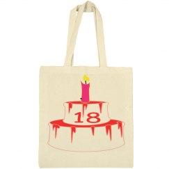18TH Birthday Tote