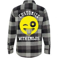 Custom Emoji Flannel