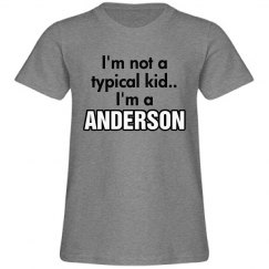 I'm a Anderson!