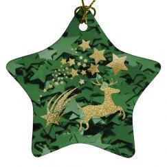 Green & Golden Stars & Reindeer